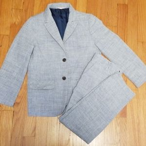 Boys blue chambray suit